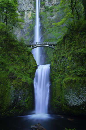 cascade: Multnomah Falls in the Columbia River Gorge.