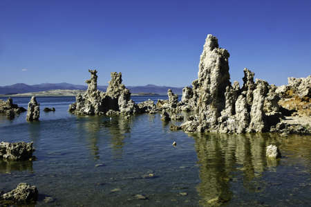 Tufa formations at Mono Lake California