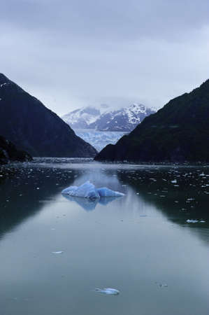 sawyer: Sawyer Glacier in Tracy Arm Fjord near Juneau, Alaska Stock Photo