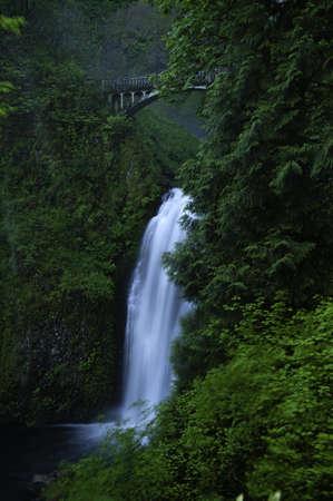 Multnomah Falls in the Columbia River Gorge photo