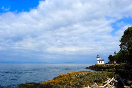 kiln: Lime Kiln Lighthouse on San Juan Island, washington