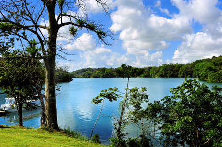 Gatum lake near the Panama canal
