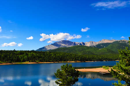 Crystal Reservoir near Pikes Peak on a summer day