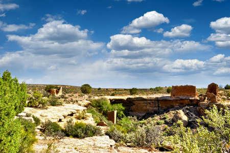 anasazi: Several anasazi ruins at Hovenweep National Monument  Stock Photo