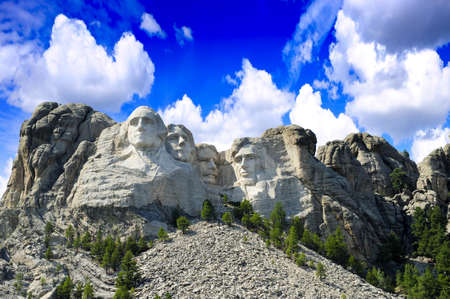 The presidents carved in granite at Mt  Rushmore, South Dakota Stock Photo - 16255739