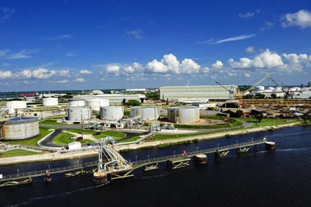 The industrial side of the port of tampa, Florida photo