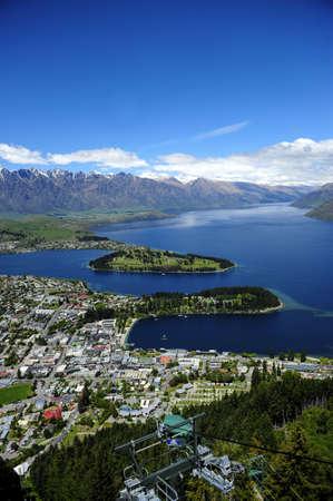 View of Lake Wakatipu and Queenstown, New Zealand photo