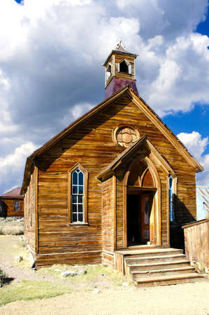 methodist: The old Methodist Church in Bodie State Historic Park, Stock Photo