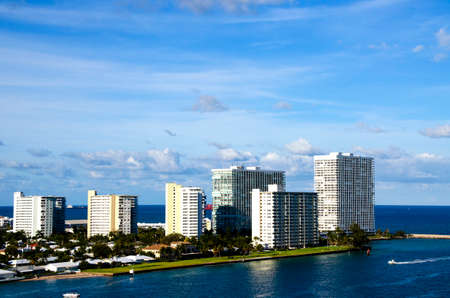 ft lauderdale: View of buildings in Ft  Lauderdale Florida Stock Photo