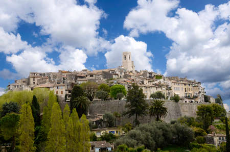 The medieval walled city of Saint Paul De Vence, France