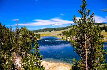 hayden: Hayden Valley in Yellowstone National Park  Stock Photo