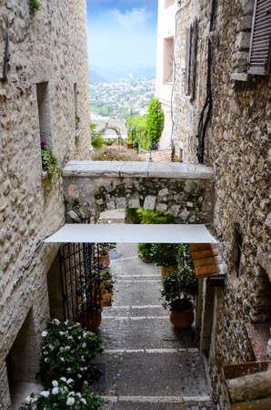vence: Inside the medieval village of Saint Paul De Vence France Stock Photo