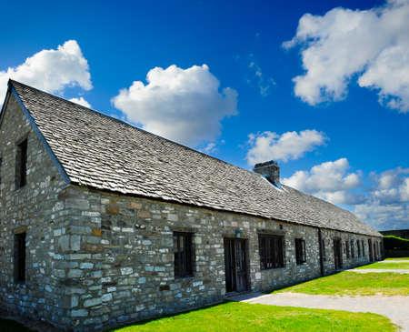 barracks: Historic barracks at Fort Niagara, New York Stock Photo