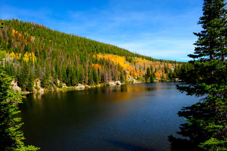 bear lake: Bear Lake in fall at Rocky Mountain National Park, Colorado