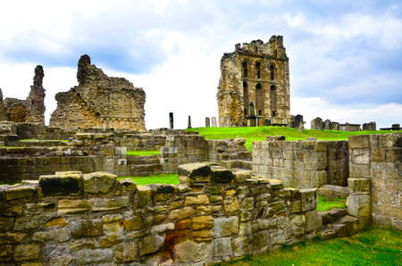 priory: Ruins of Tynemouth Priory and Castle in England.