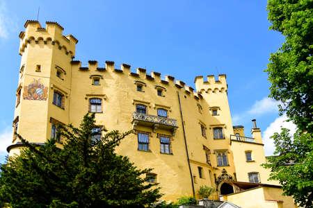 schwangau: Hohenschwangau Castle in the town of Schwangau in Germany.