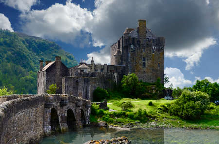 stronghold: Ancient Eilean Donan Castle in the highlands of Scotland
