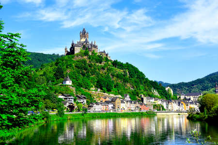 castle: Castle Reichsburg sits above the medieval town of Cochem on the Mosel River, Germany.