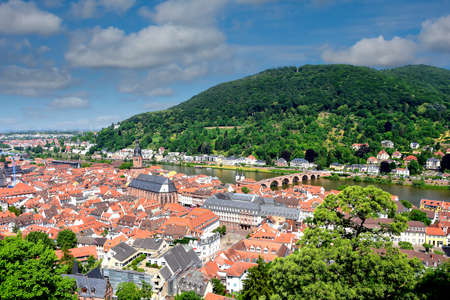 Town of Heidelberg and the Neckar River.