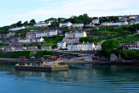 City of Cobh in Ireland and the dock. Stock Photo
