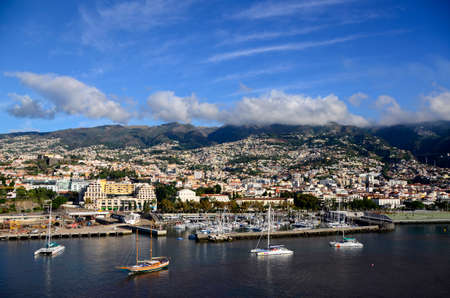 View of the harbor at funchal Madeira