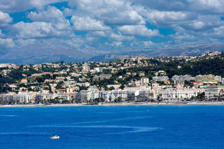 View of Nice, France from the water.