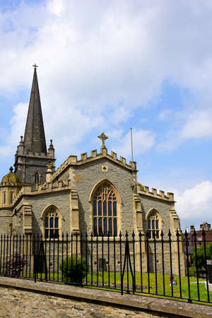 Exterior view of St. Columbs Cathedral, Londonderry, Ireland. Stock Photo
