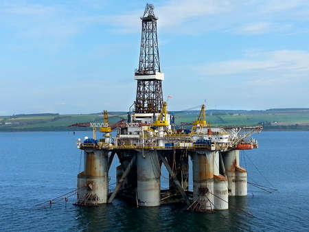 Oil drilling platform in Scotland
