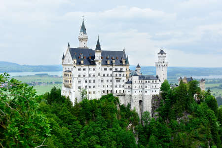 Neuschwanstein Castle near Schwangau Germany.