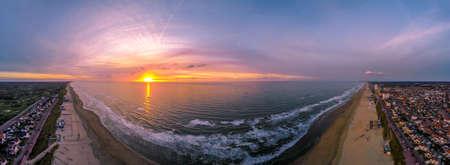 Sunset panorama Noordzee