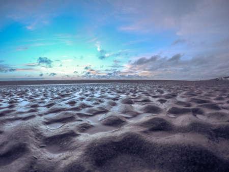 undulating: Beach with undulating sand