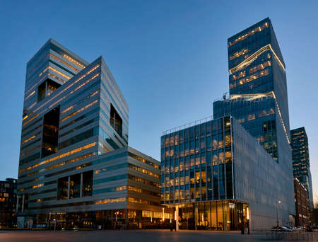 Zuidas business district of Amsterdam 스톡 콘텐츠