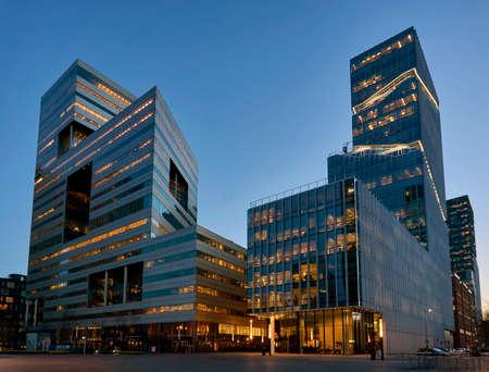 Zuidas business district of Amsterdam Standard-Bild
