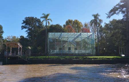 Greenhouse around building