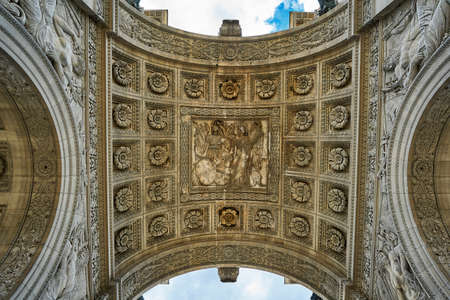 louver: Decorated arch Stock Photo