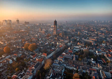 Aerial of Utrecht city center Banco de Imagens - 119095042