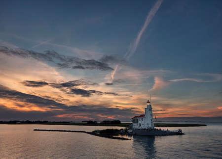 Sunset at Het Paard van Marken lighthouse