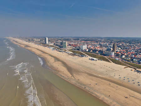 The north sea and beach at Zandvoort