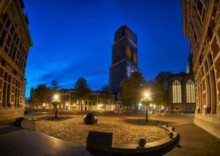 Dom church in Utrecht illuminated while undergoing renovation works