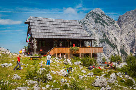 ceska: Ceska koca The Czech Lodge, Slovenia - August 1, 2015. The Czech Lodge at Spodnje Ravni is a mountain hostel which stands at 1,542 meters. Editorial