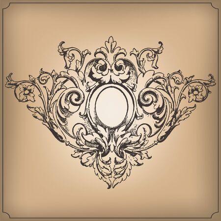 vintage: Vintage baroque ornament.