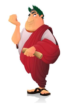César, senador romano. Ilustración de vector