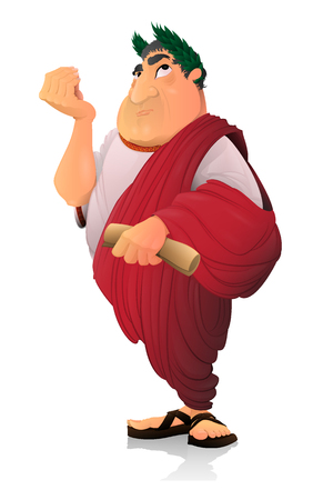 Caesar, Roman Senator. Zdjęcie Seryjne - 105336090