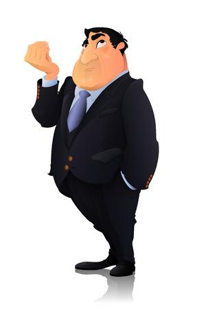 Businessman, Politician character.