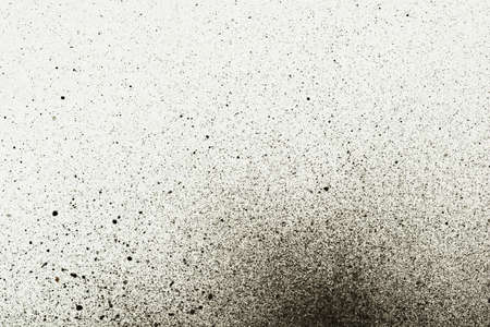 spray paint: An abstract paint splatter frame in black and white Stock Photo