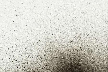 spatters: Una cornice di splatter pittura astratta in bianco e nero