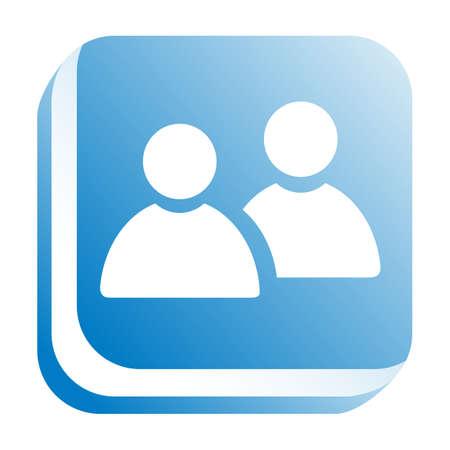 ivories: web icon Stock Photo