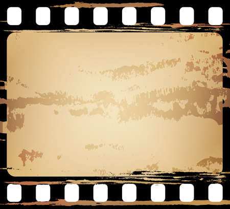 grunge filmstrip, may use as a design element Vector