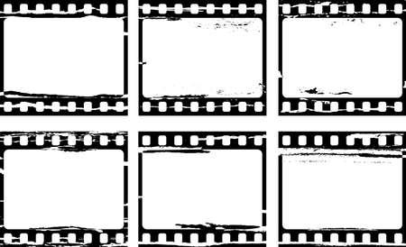 grunge film frame samples Vector
