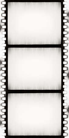 negativity: designed empty film strip with added grain